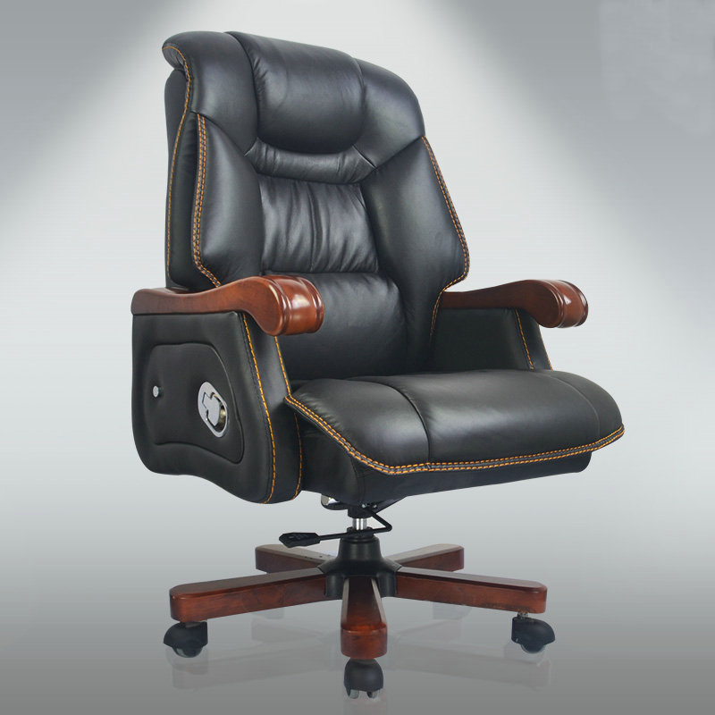 Fei yao adams leather reclining massage chairs boss chair wood swivel chair home computer chair leather office chair