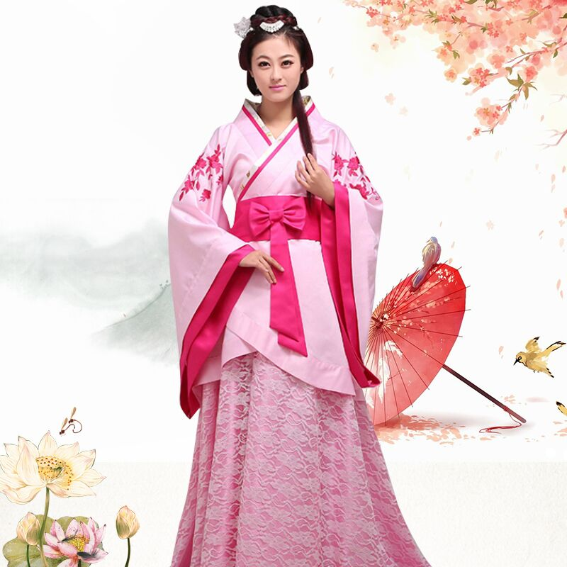 Fell in love with dance costume han chinese clothing costume formal ladieswear modified song garment trailing wedding photography table play costume spring marks