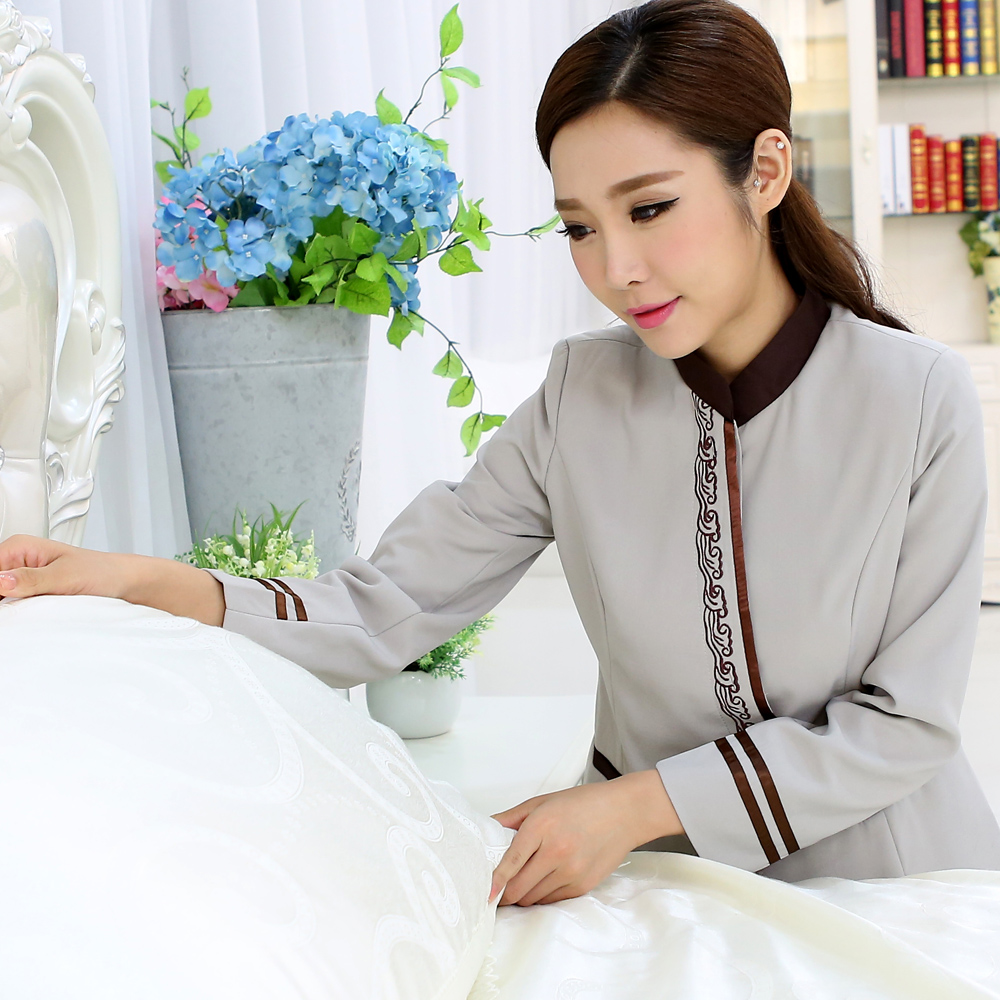 Feng ming hotel uniforms fall and winter clothes work uniforms fall and winter clothes female hotel hotel rooms pa cleaning clothes long sleeve