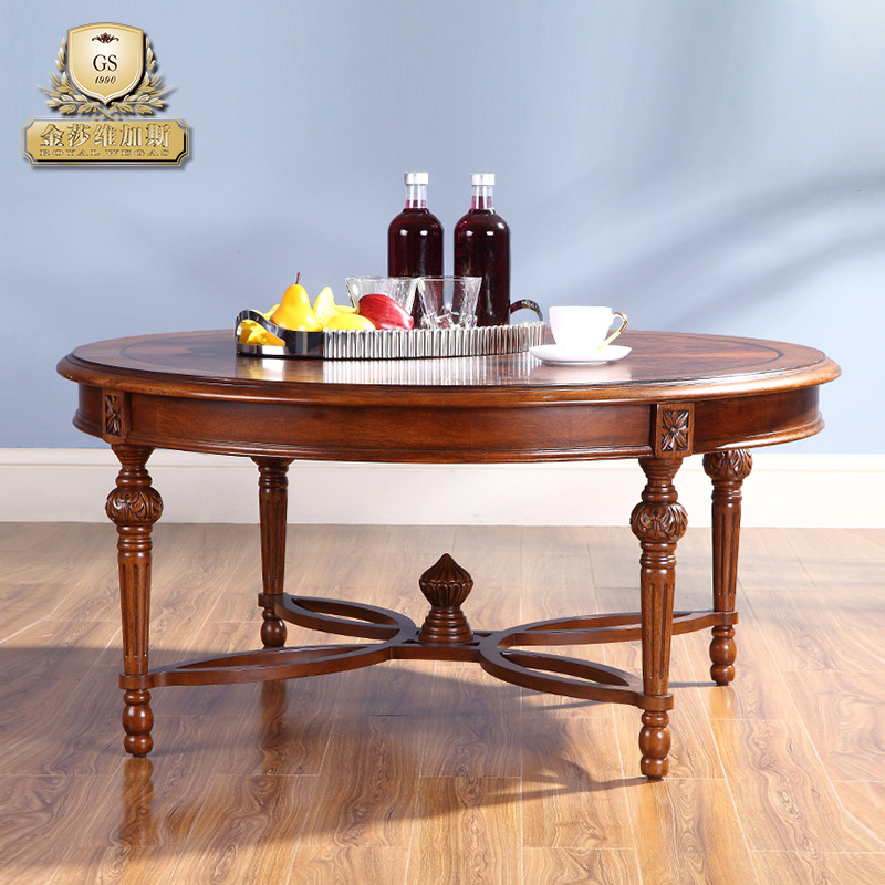 Ferrero rocher vegas european coffee table wood coffee table round coffee table living room furniture upscale new american wood coffee table