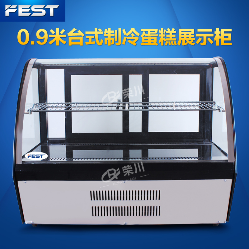 Fest 0.9 m desktop cooled cake cabinet display cabinet fresh cabinet deli counter fruit sushi counter refrigeration cabinets