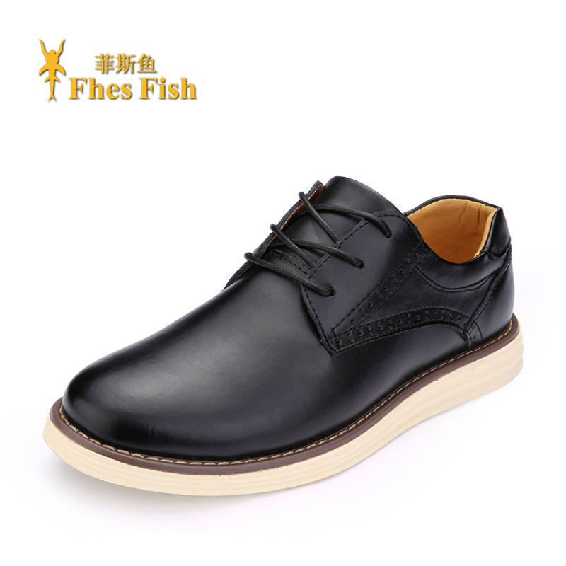 Fhesfish/fez fish end custom brand fhesfish korean men's everyday casual leather shoes