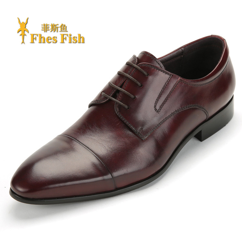 Fhesfish fez fish lace wild fashion elegant fashion men's shoes pointed business men's fashion