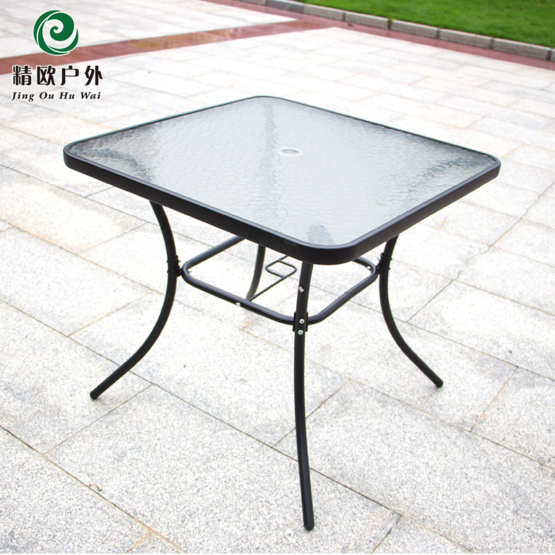 Fine european outdoor courtyard garden wrought iron tables and chairs outdoor leisure folding coffee table and chairs combination coffee bar