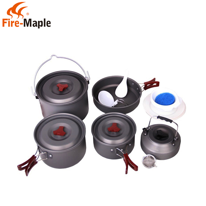 Fire-maple/fire maple fmc-212 camping outdoor cooking stoves cookware cutlery (suitable night—say people)