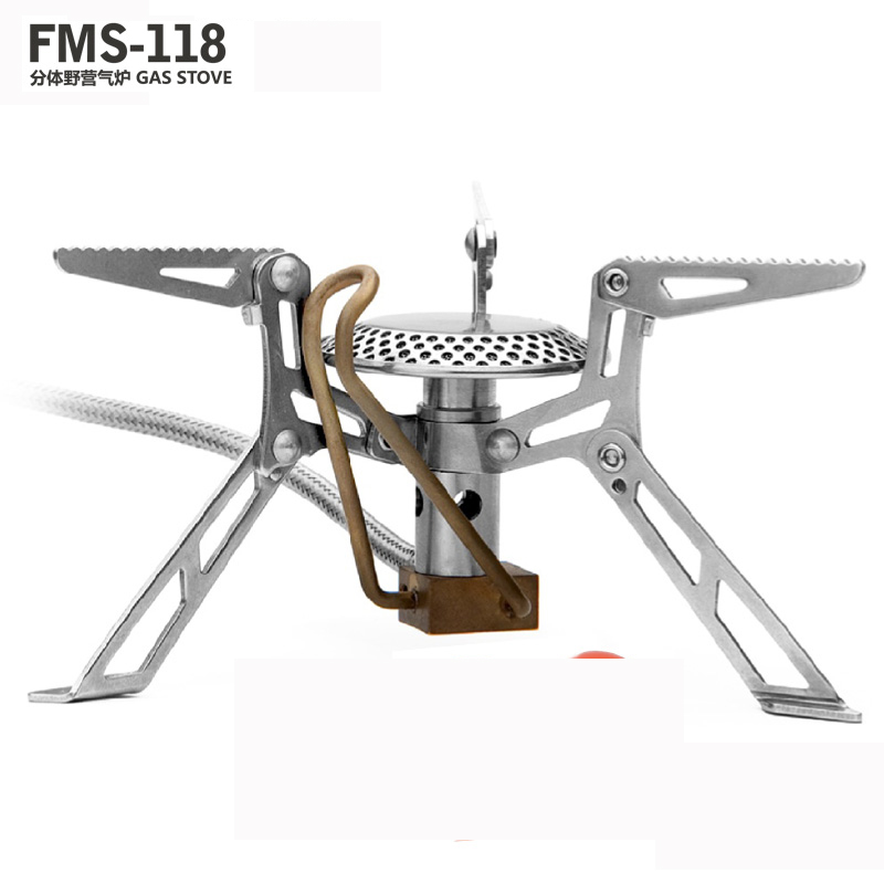 Fire-maple/fire maple fms-118 split preheat burner camping gas stove volcano