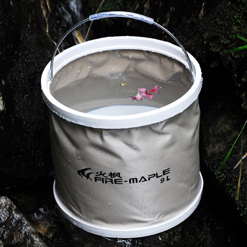 Fire maple fmb904/909 outdoor multifunction portable folding water bucket fishing bucket shuiju handwashing barrel