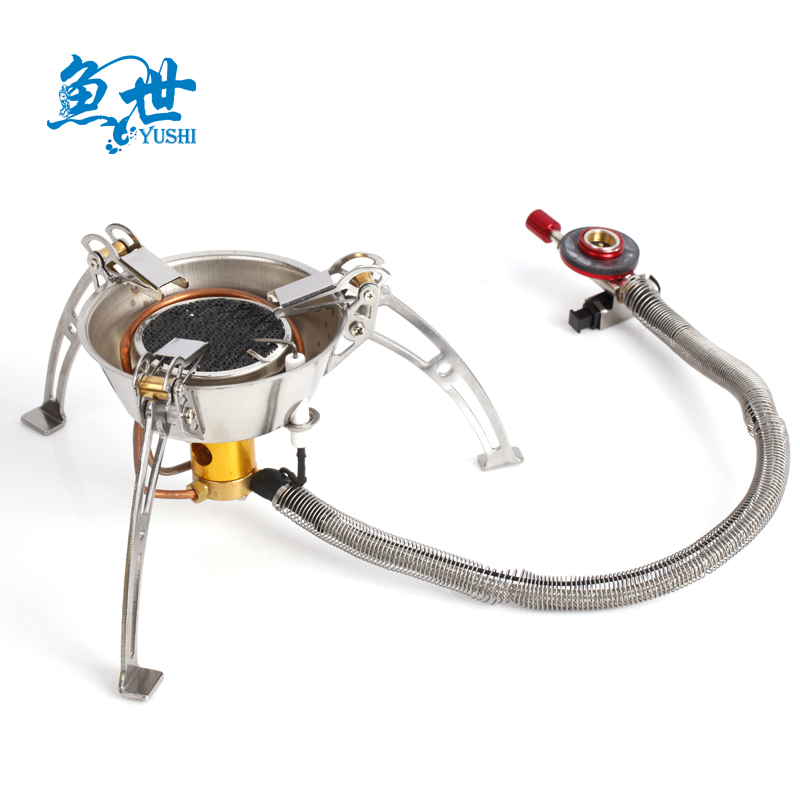 Fish world burner gas stove outdoor equipment lj-6001 infrared burner gas stove split windproof butane gas stove portable stove