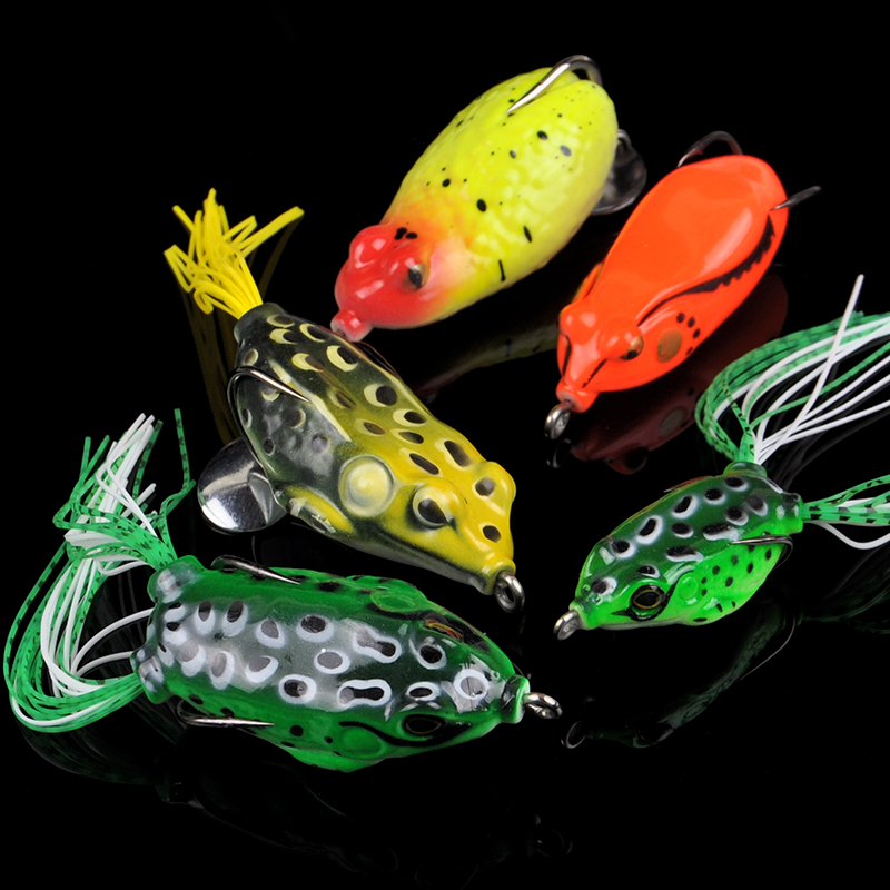 Fishing head suit freshwater bait lures ray frog suit blackfish 5 barbed blackfish designed to kill lures lure