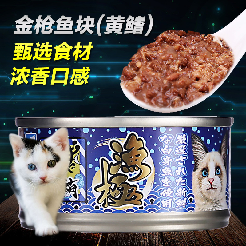 Fishing pole pet cat food tuna block 80g canned cat wet cat food snacks pet cat wet cat food snacks