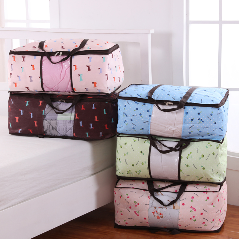 Get Quotations Ed Quilt Woven Storage Bag Household Folding Box Large Clothes Sorting Bags