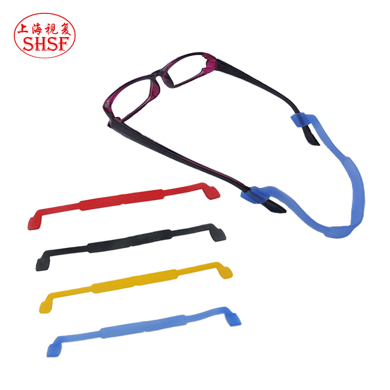 Fixed straps playing outdoor sports glasses rope slip glasses glasses mirror rope high elastic slip silicone fangshuai