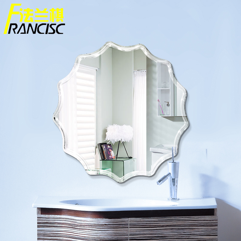 Flange chess frameless bathroom mirror bathroom mirror wall mirror bathroom mirror bathroom sink bathroom vanity mirror