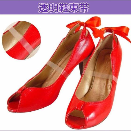 Flexible transparent silicone strap shoe laces high heels sandals not prevent genjiao two 50æ¡into