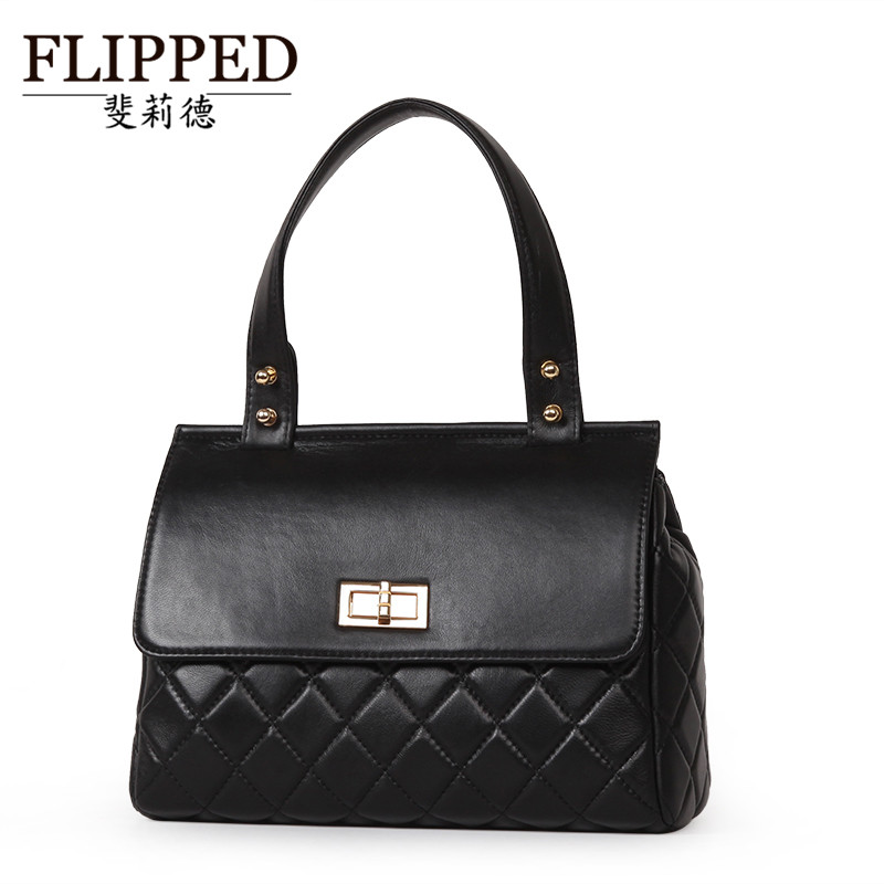 Flippedæède 2015 european and american style package cover type quilted sheepskin handbag mobile messenger backpack