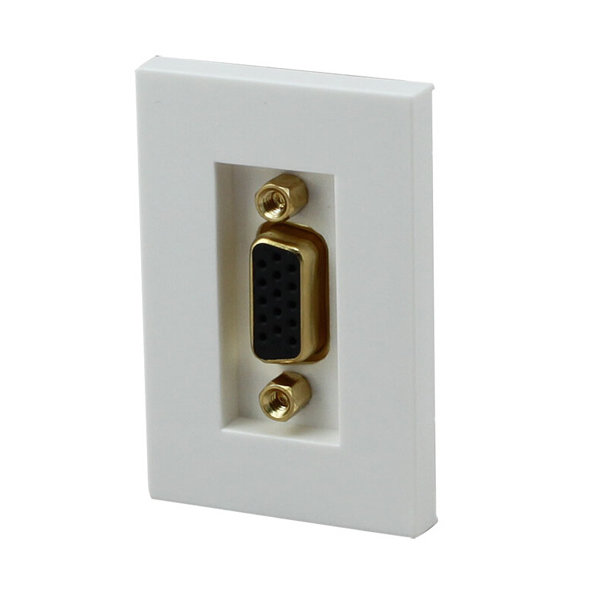 Float too gold-plated n118 american line module vga vga female to female socket computer projection tv wall plug