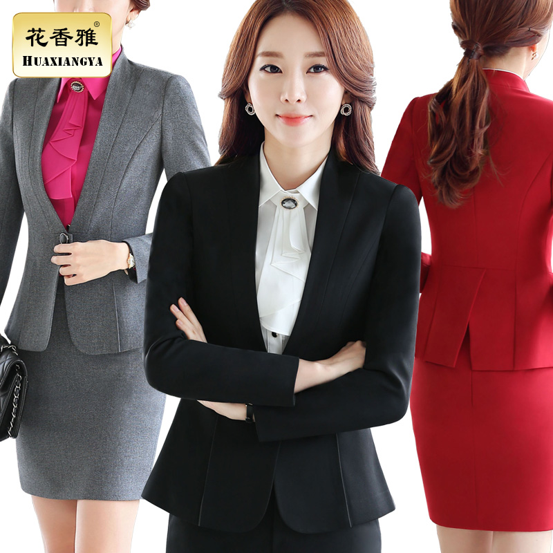 c39ea28aa05 Get Quotations · Floral elegant new women career suits suit business suits  slim suits overalls female hotel tooling large