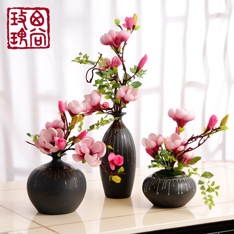 China artificial flower chinese china artificial flower chinese get quotations flow glaze chinese jingdezhen vase magnolia flower artificial flowers artificial flowers artificial flowers floral living room mightylinksfo