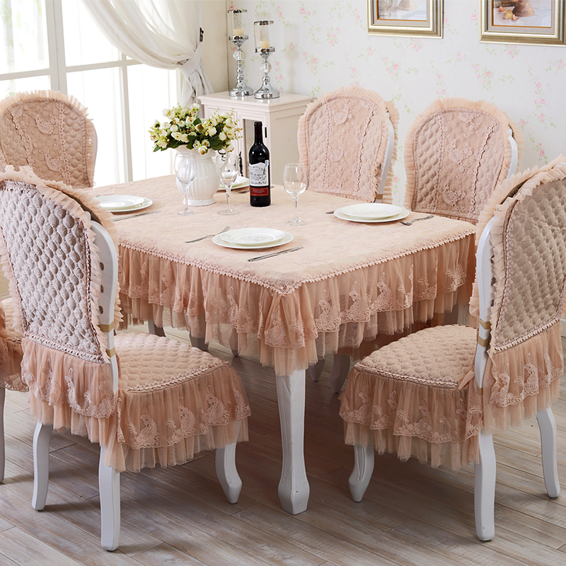 Flower european tablecloth fabric table cloth tablecloth lace table cloth hotel special dining chair cushion coverings suit