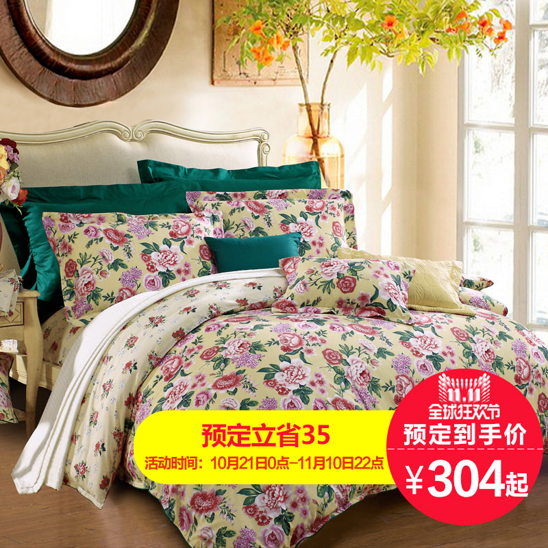 Flower st. anna rich textile cotton bed 4 m cotton quilt four sets of bed linen family of four jane [sale]