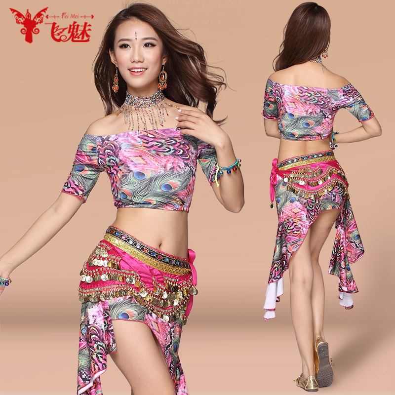 Fly charm belly dance belly dance practice clothes and new summer skirt 2016 sexy belly dance clothing practice suit costumes