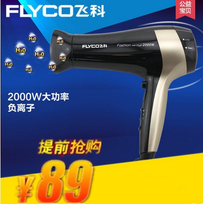 Flying branch hair dryer flying branch fh6231 power household hair dryer hair dryer cold wind free shipping deals