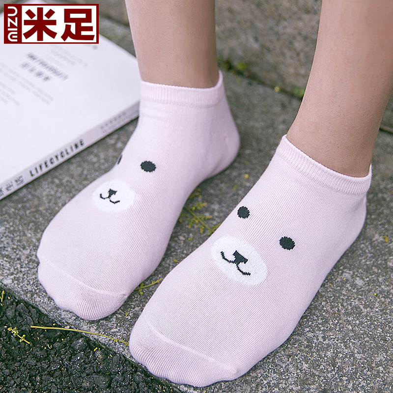 ç±³foot low to help ms. cotton socks shallow mouth socks socks female socks summer thin section breathable absorbent socks