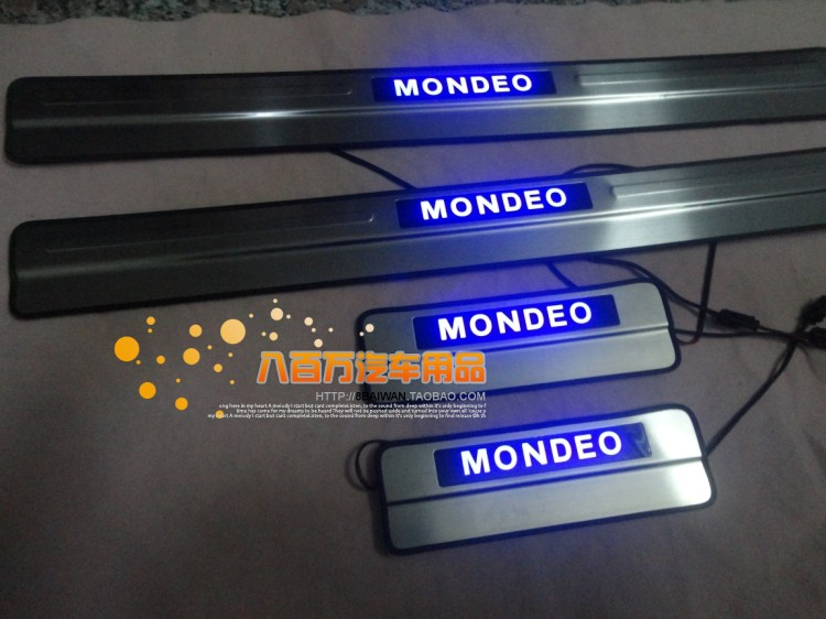 Ford mondeo models 08-13 14 new mondeo welcome pedal threshold strip with led lights led lights
