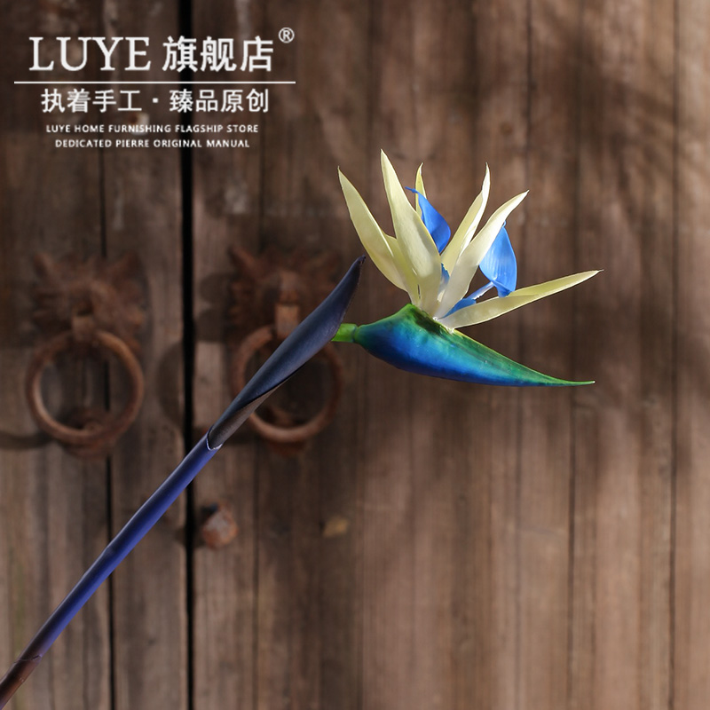 Foreign trade of the original single bird of paradise flowers artificial flowers artificial flowers floral decoration living room table vase hotel simulation overall floral furnishings