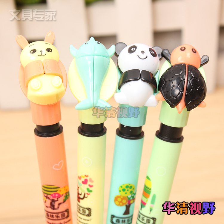 Forest park activities pencil automatic pencil 5mm cute animal world 8028 automatic pencil cartoon student