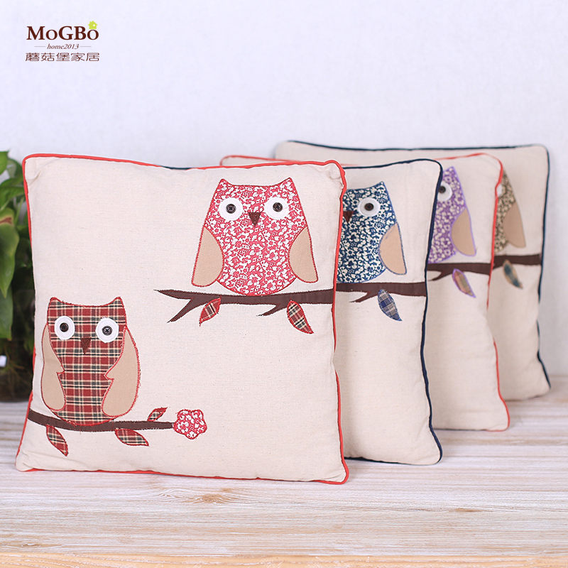Fort mushrooms contadino owl series of home linen pillow cartoon printed fabric pillow cushion sofa decoration