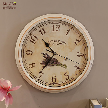 Fort mushrooms european living room gilt寸ç³british jane european pastoral wall clock 13 wall clock creative wall clock mute wall clock round the clock