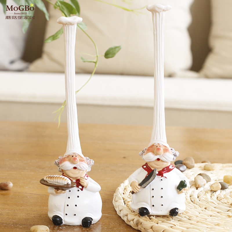 Fort mushrooms home accessories resin crafts home decoration ornaments creative home cooks group live together