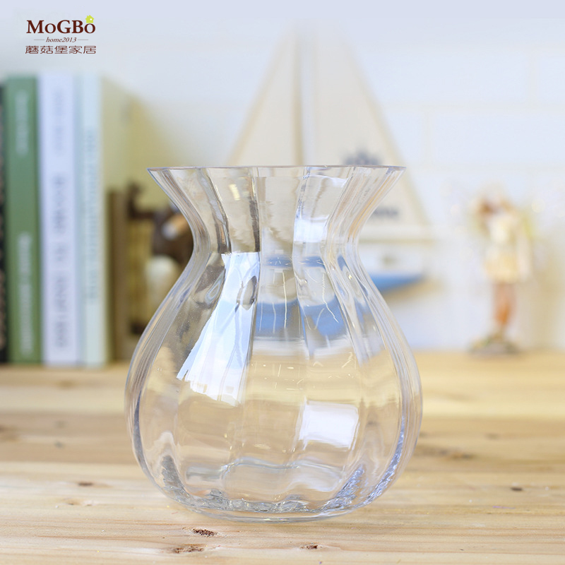 Fort mushrooms simple transparent glass vase ornaments european vase living room table set creative home