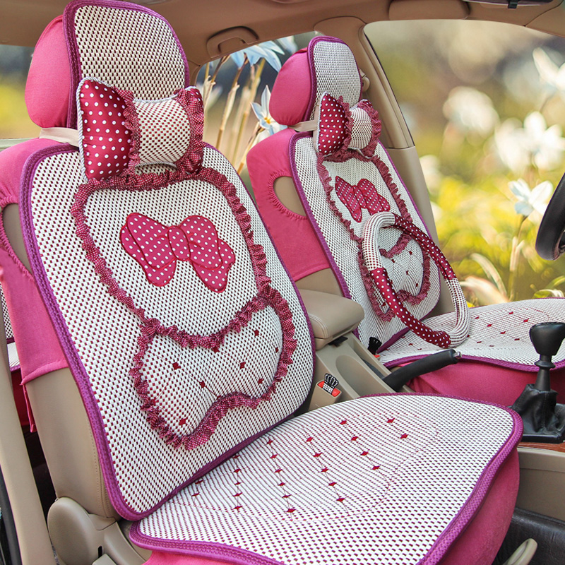 Four seasons car seat lavida new female summer cartoon car seat cushion summer new car seat cushion cartoon