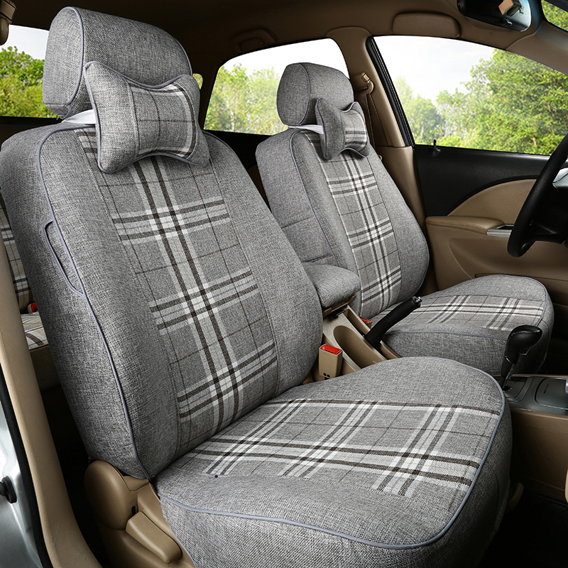 Four seasons linen seat covers hafei lobo race saibao outlook caused three 3 summer special car seat covers the whole package seat cover