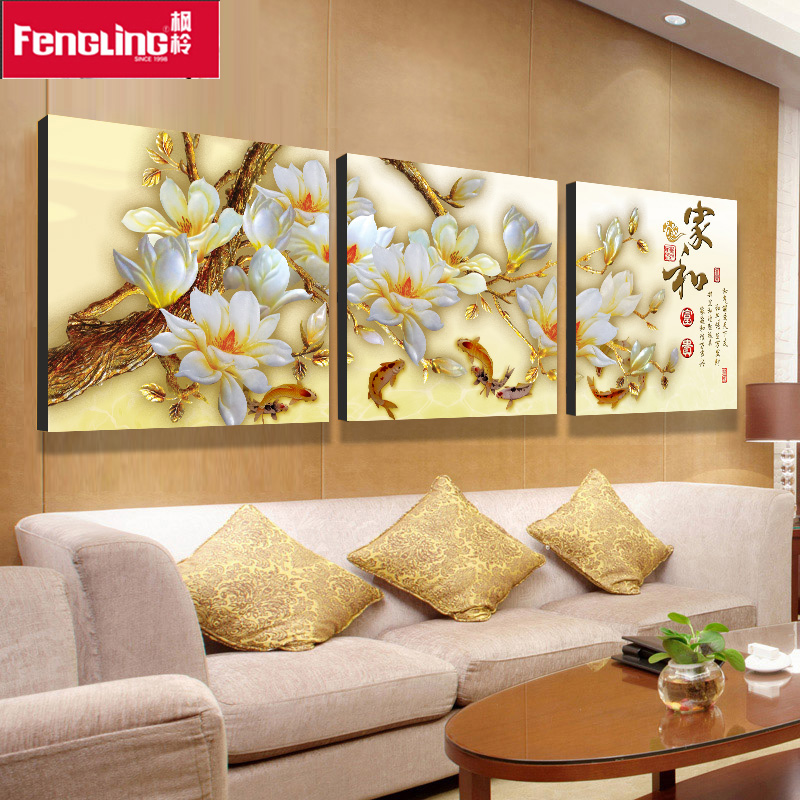 Frameless painting decorative painting the living room triple frameless painting the living room decorative painting triptych painting the living room painted backdrop frameless painting