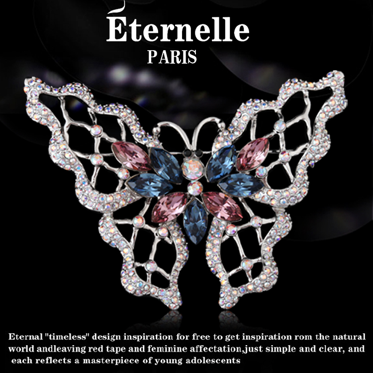 France eternelle using swarovski elements crystal brooch pin butterfly brooch scarf buckle european and american style