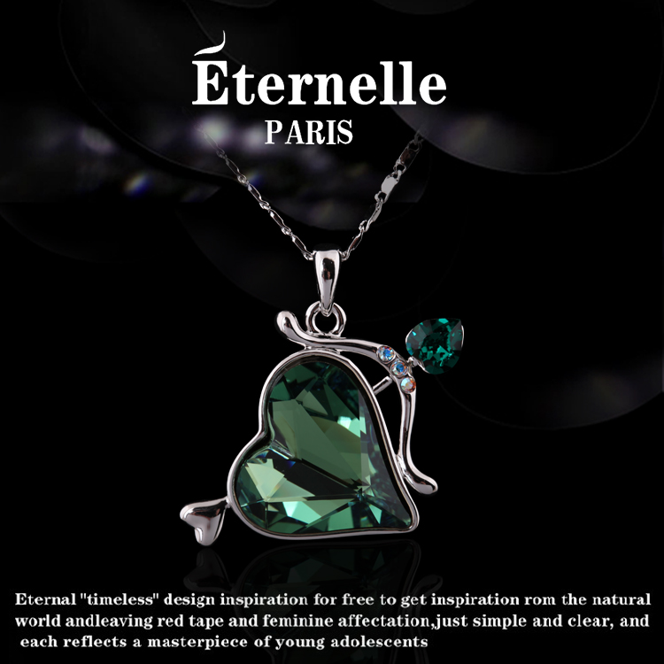 France eternelle using swarovski elements crystal pendant necklace ornament pendant japan and south korea