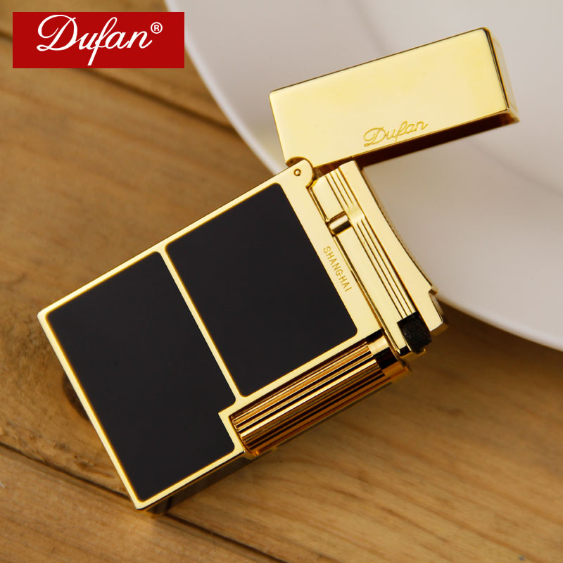 France vatican dufan broke lighter inflatable body paint windproof lighter flame lighter wheel thin copper creative men