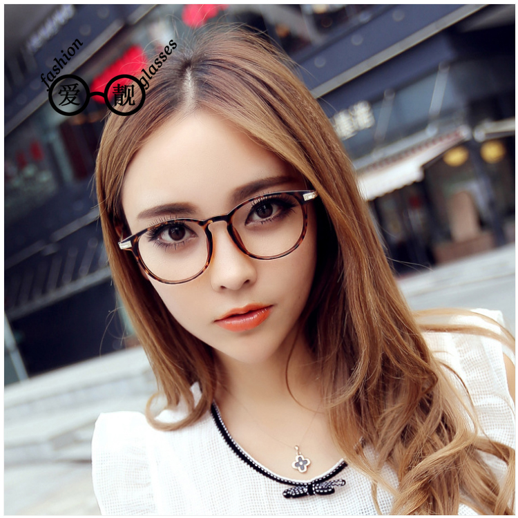 Get Quotations · Free shipping 2016 models plain mirror vintage glasses  korean female models fashion classic round metal flat ff0052454b