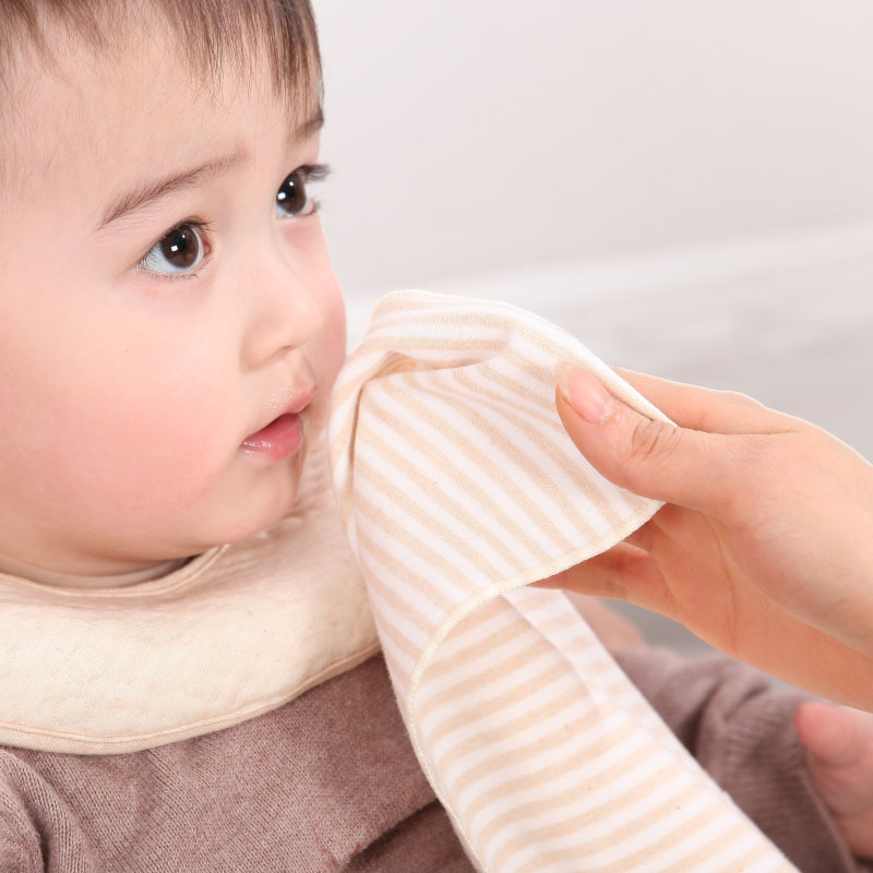 Free shipping baby organic cotton handkerchief sweat towel face towel bibs children baby organic cotton handkerchief 5 installed