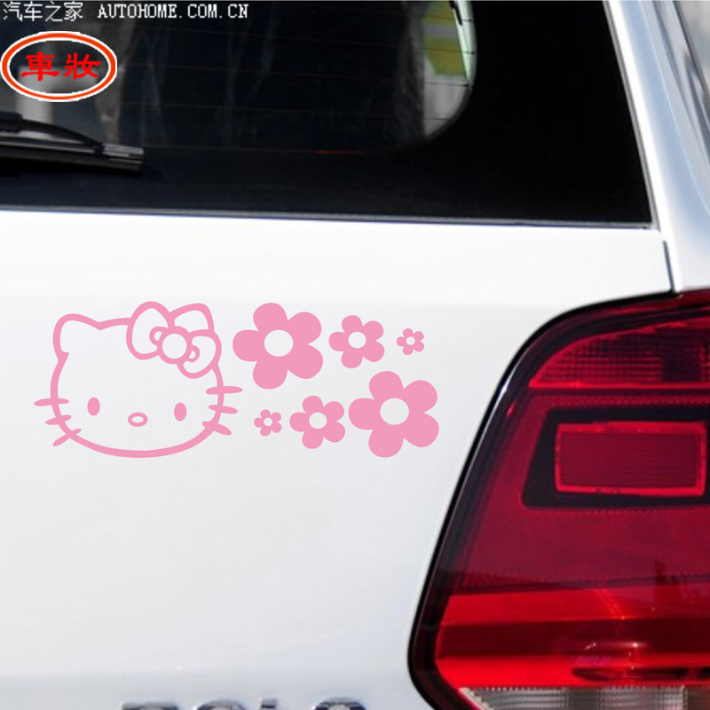 Free shipping car reflective stickers kitty kt kt hello kitty car stickers car stickers car decoration stickers flowers