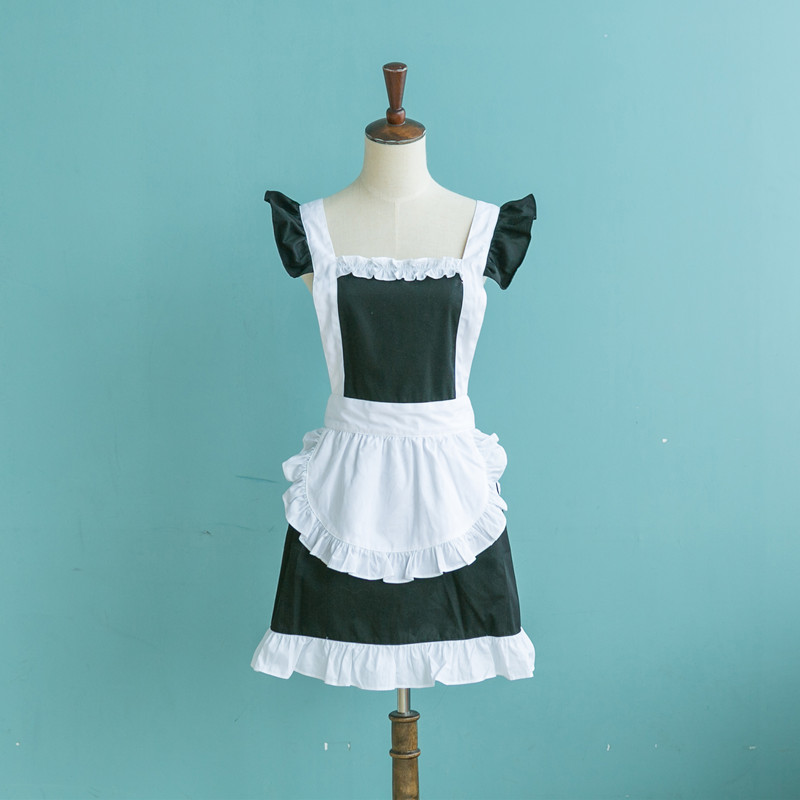 Free shipping cotton aprons korean fashion princess aprons cute aprons kitchen aprons overalls tea shop