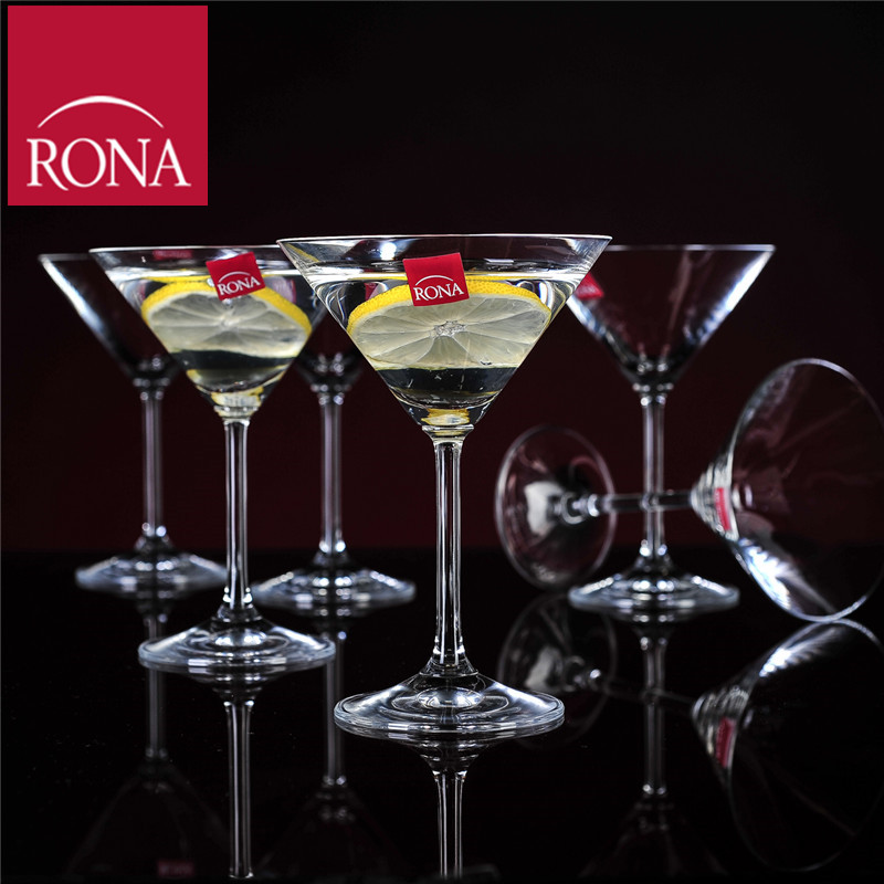 Free shipping czech rona unleaded crystal glass goblet martini cocktail glass cup juice cup 180 ml