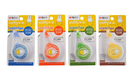 Free shipping dawn altered with correction tape with cute cartoon student stationery miffy mf6202 12 12个boxed