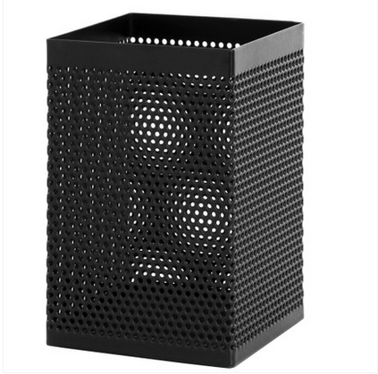 Free shipping deli 908 pen pen square metal iron mesh pen desk organizers office thickening simple fashion