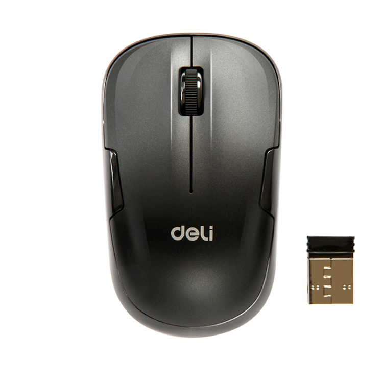 Free shipping deli deli 3713 wireless mouse usb optical mouse game/office mouse with high precision with battery