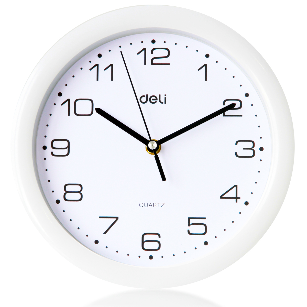 Free shipping deli stationery 9003 round wall clock fashion home office type 7.5 inch diameter 25 cm