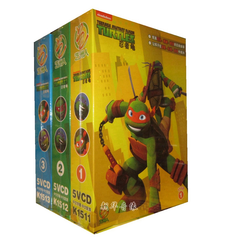 Free shipping genuine cartoon animation disc 1 + 2 + 3 teenage mutant ninja turtles teenage mutant ninja turtles 15vcd